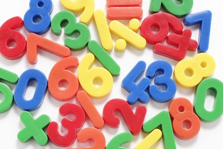 Close Up of Plastic Numbers Stock Photo - 2900199
