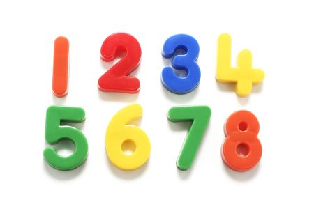 Plastic Numbers on White Background Stock Photo - 2900098