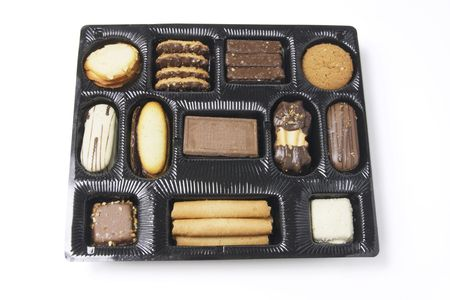titbits: An Assortment of Biscuits on Whie Background Stock Photo