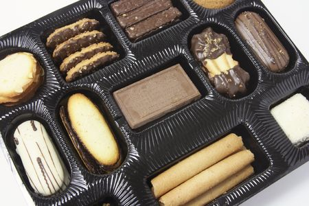 titbits: Close up of an  Assortment of Biscuits