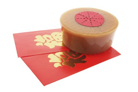red packet: Red Packet and Chinese New Year Cake