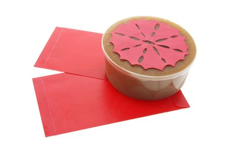 Red Packets and Chinese New Year Cake Stock Photo - 2910980