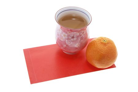 red packet: Mandarin, Teacup and Red Packet