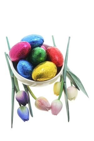 Easter Eggs and Tulip Ornaments photo