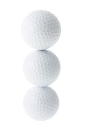 A Stack of Golf Balls on White Background Stock Photo - 2910484