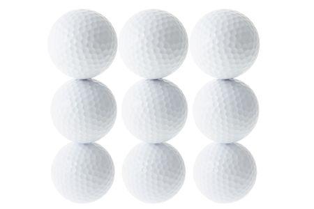 golf balls: Stacks of Golf Balls on White Background