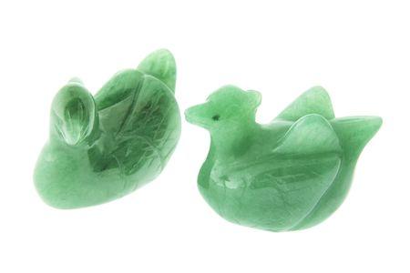souvenirs: Mandarin Duck Ornaments on White Background