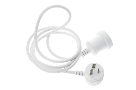 life extension: Power Cord on White Background