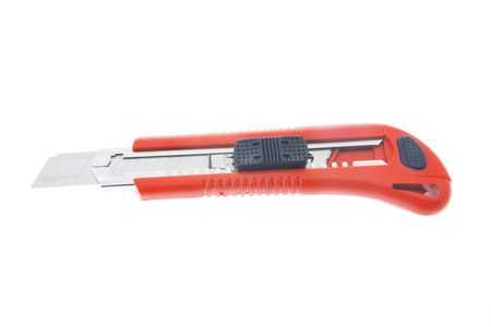 retractable: Retractable Blade Knife on White Background