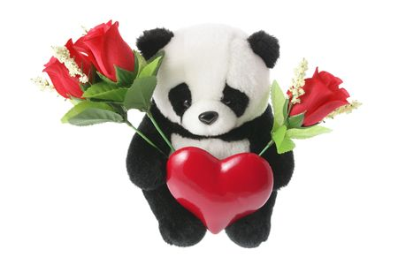Panda Soft Toy with Love Heart photo