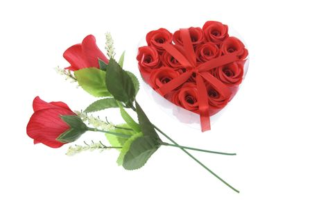 Red Roses on White Background Stock Photo - 3534282
