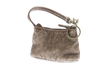 coin purse: Coin Purse on Isolated White Background Stock Photo