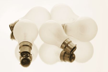 Light Bulbs with Warm Cast Stock Photo - 3534717