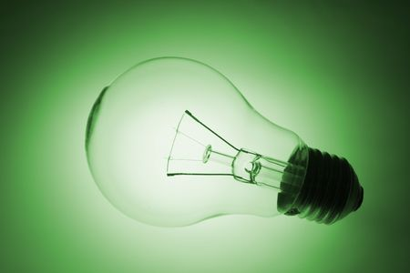 green tone: Light Bulb with Glow in Green Tone