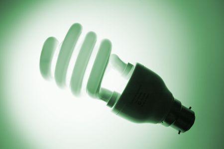 green tone: Fluorescent Bulb in Green Tone Stock Photo