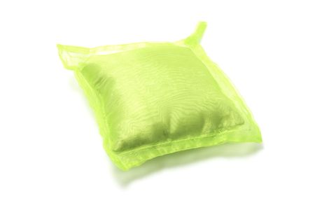 comfy: Green Cushion on Isolated White Background
