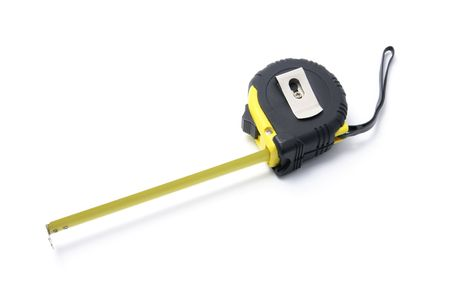 retractable: Retractable Measuring Tape on White Background