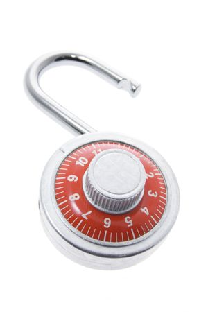 decipher: Combination Lock Isolated on White Background