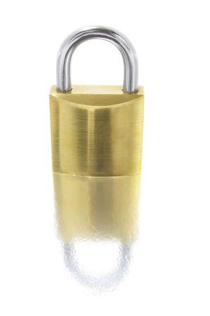Lock Isolated on White Background with Reflection Stock Photo - 3533719