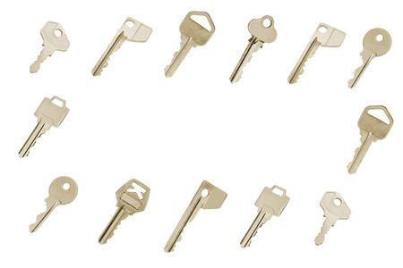 copy sapce: Keys with Copy Space on White Background