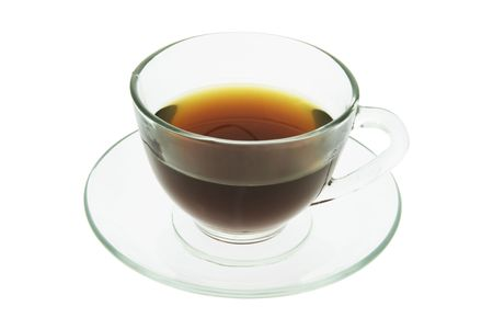 Cup of Tea on Isolated White Background photo