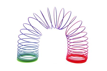 springy: Slinky Toy on Isolated White Background