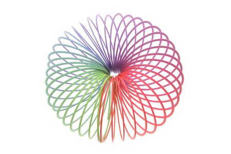 slinky: Slinky Toy on Isolated White Background