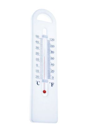 Thermometer on Isolated White Background Stock Photo