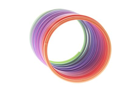 isol� sur fond blanc: Slinky Toy isol�s sur fond blanc