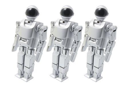 Walking Toy Robot on White Background Stock Photo - 3533810