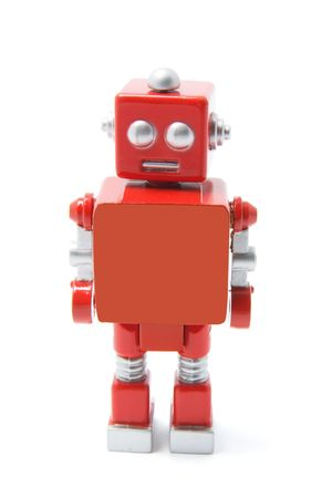 Toy Robot Standing on White Background Stock Photo - 3532427