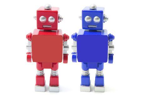 Toy Robot on Isolated White Background photo