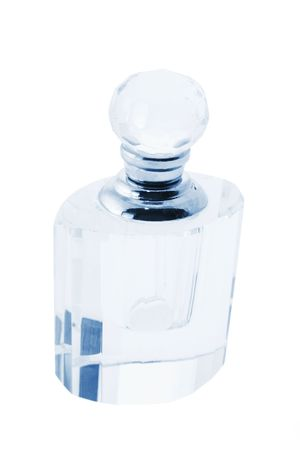 eau de perfume: Perfume Bottle on White Background