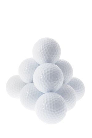 knock out: Golf Balls Isolated on White background Stock Photo