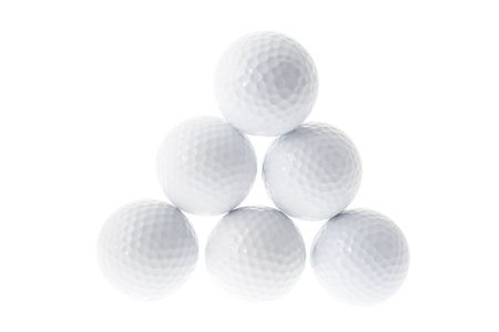 Golf Balls Isolated on White Background photo