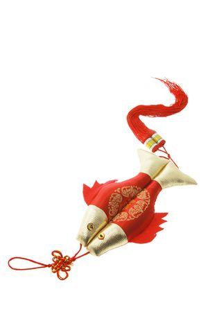 in bocca al lupo: Good Luck cinese fascino su sfondo bianco