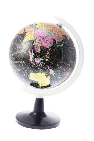 Desk Globe on White Background Stock Photo - 3533986