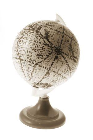 Antique Desk Globe on White Background Stock Photo - 3533997
