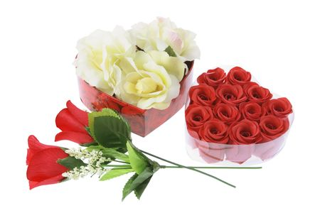 Roses Decorations on White Background Stock Photo - 3534776