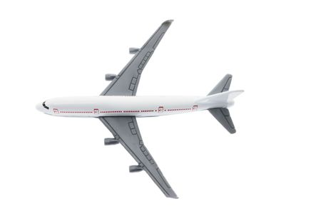 isolated on the white background: Plane Model on Isolated White Background