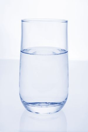 Glass of Water on Isolated White Background Stock Photo - 3534191