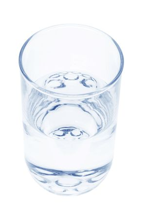 isolated on the white background: Glass of Water on Isolated White Background
