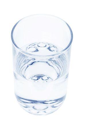 isol� sur fond blanc: Verre de l'eau sur Isolated White Background