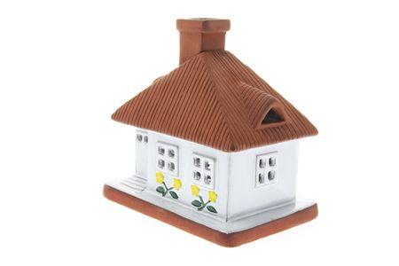 Miniature House on Isolated White Background photo