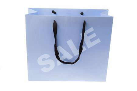 paperbag: Shopping Bag on Isolated White Background