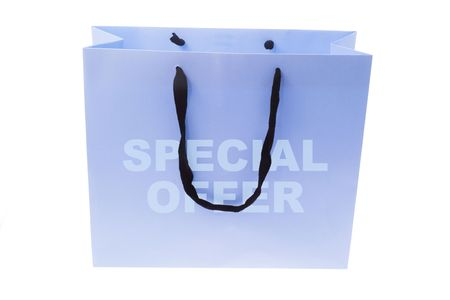 Shopping Bag on Isolated White Background photo