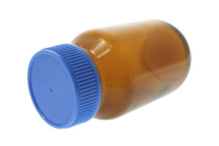 Pill Bottle on Isolated White Background photo