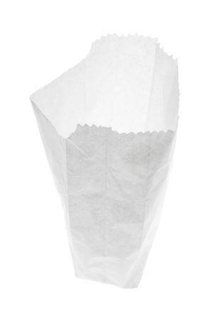 white paper bag: Libro Blanco sobre aislada Bolsa Fondo blanco Foto de archivo