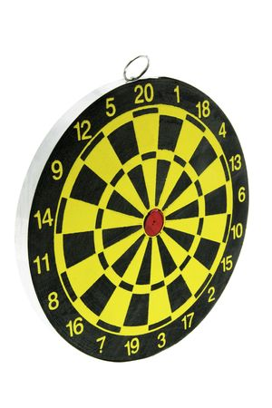 Dart Board on Isolated White Background photo