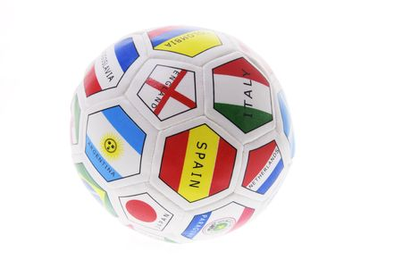 Soccer Ball on Isolated White Background Stock Photo